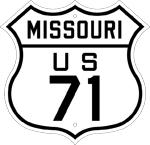 U.S. 71 sign